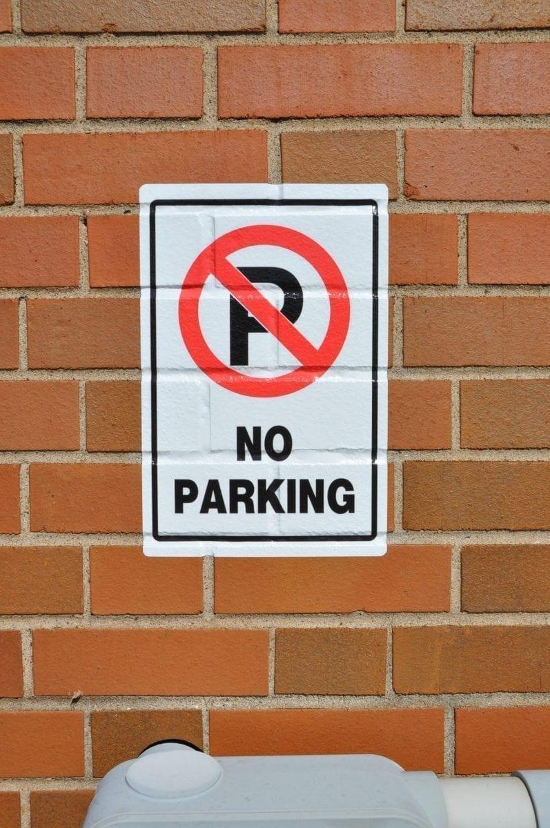 Brick Adhesive sign