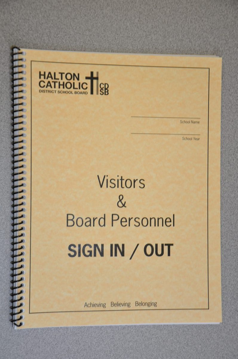 HCDSB Generic Sign in/out book